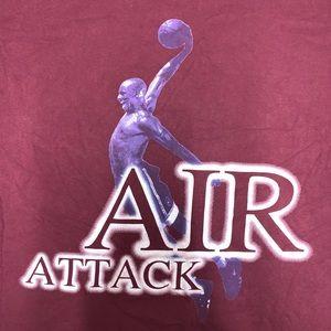Vintage Shirts - Vintage Michael Jordan Air Attack Tee Size XXL 90s